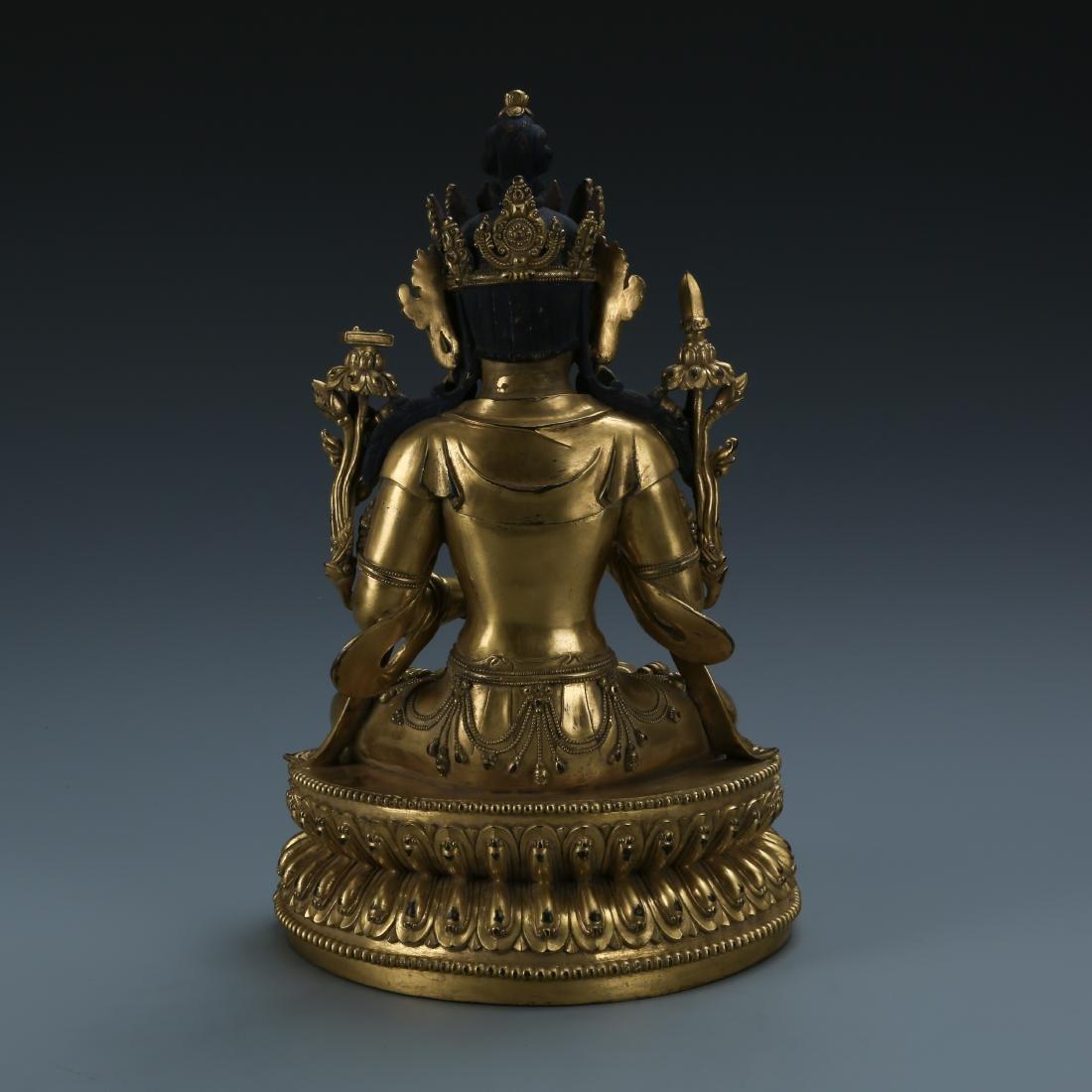 Gilt Bronze Figure of Padmapani - 4
