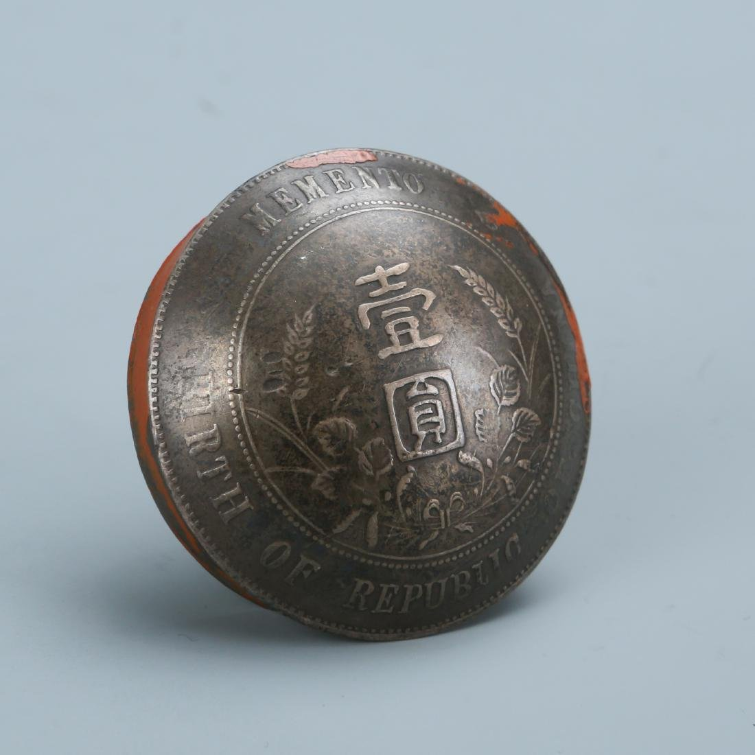 Set of Six Memento Silver Dollar Coin Button - 5