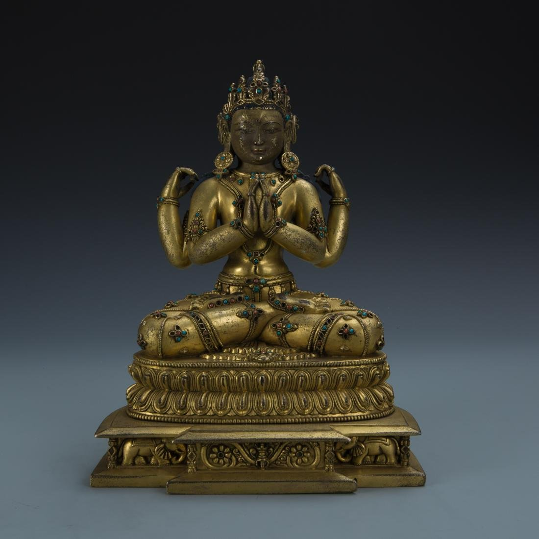 Gilt Bronze Figure of Avalokitesvara