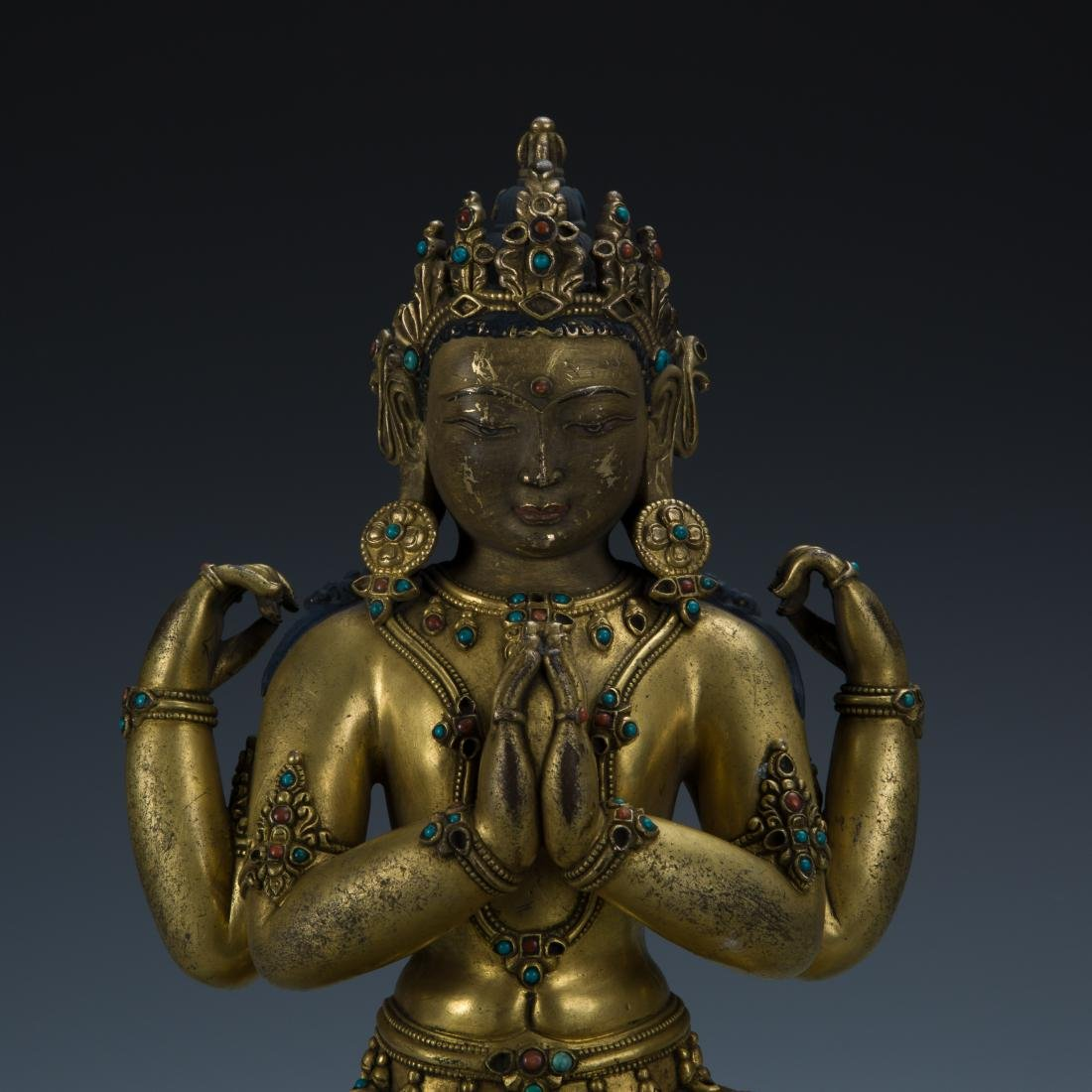 Gilt Bronze Figure of Avalokitesvara - 2