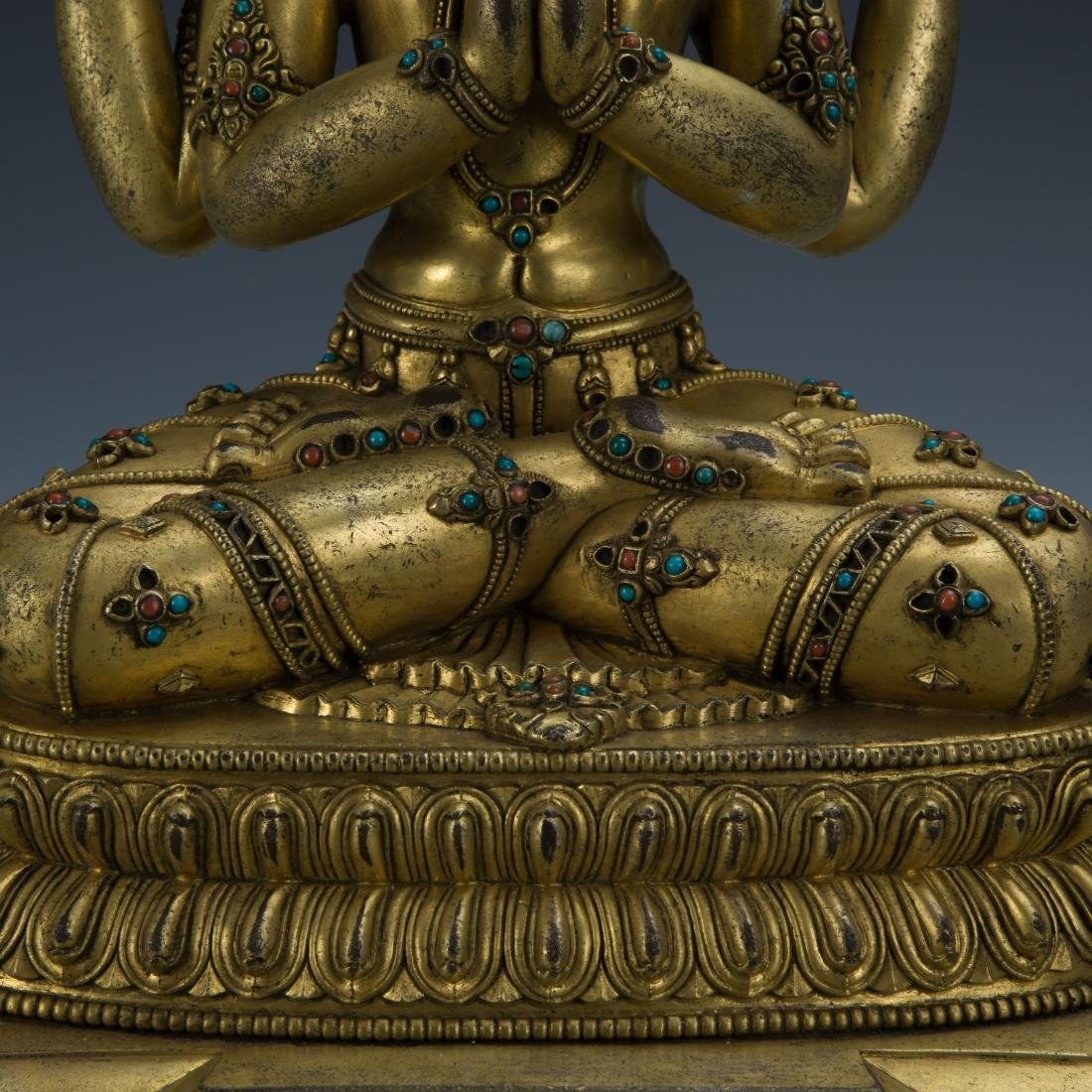Gilt Bronze Figure of Avalokitesvara - 3