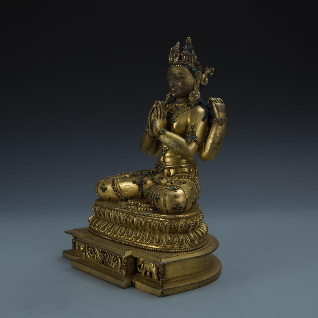 Gilt Bronze Figure of Avalokitesvara - 5