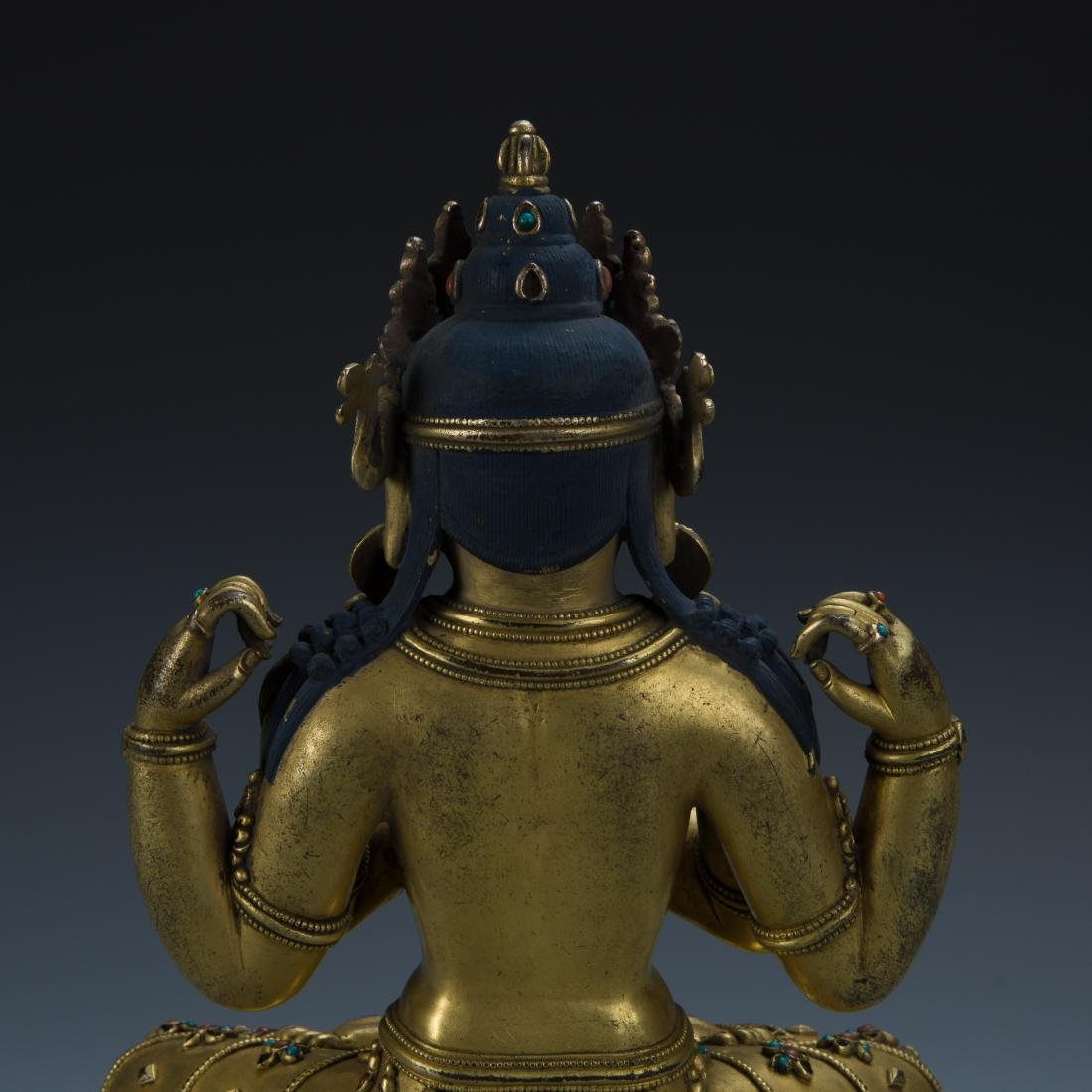 Gilt Bronze Figure of Avalokitesvara - 7