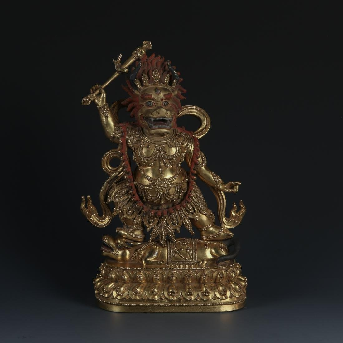 A Gilt Bronze Figure of Yama Dharmaraja