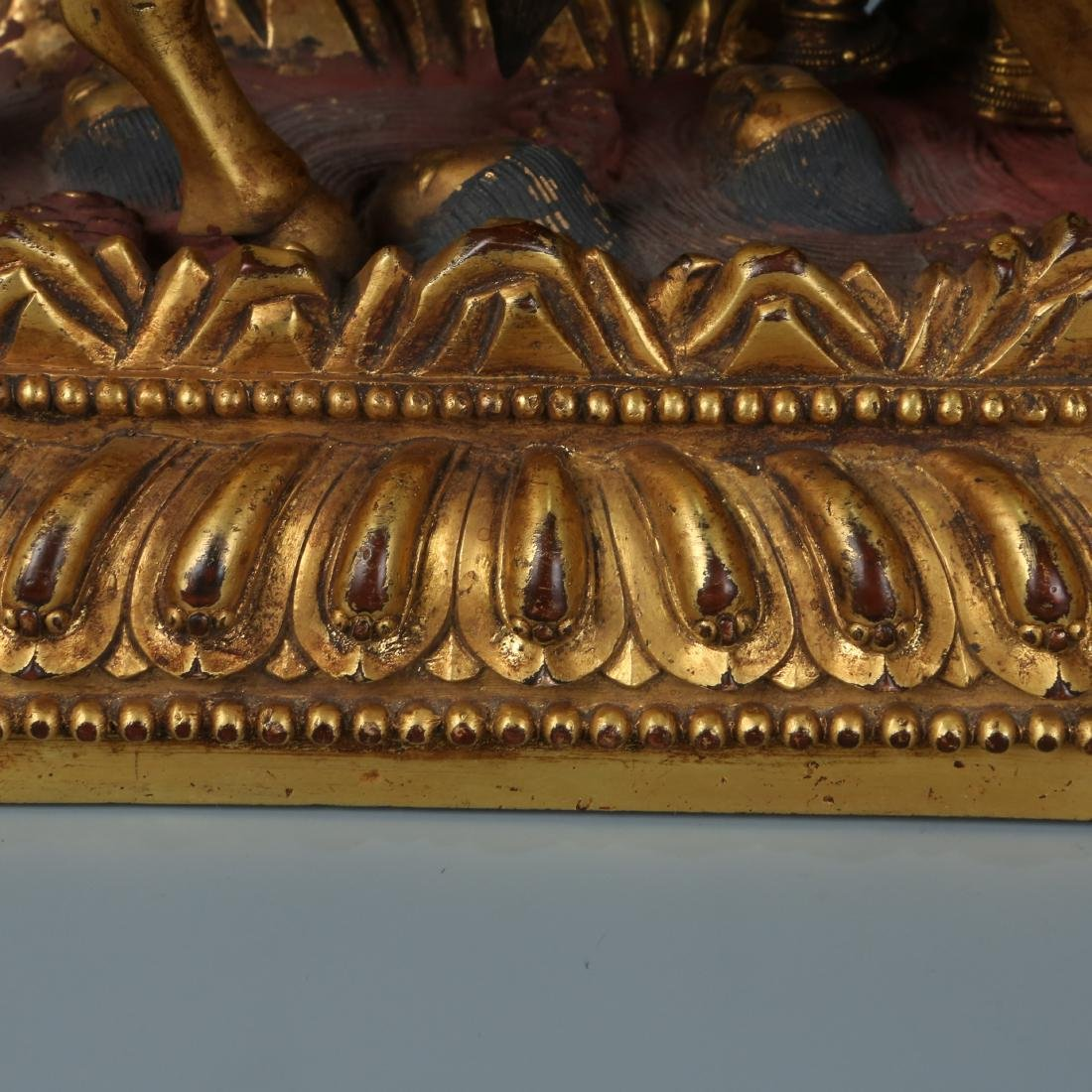 Gilt Bronze Figure of Palden Lhamo with Characters - 12