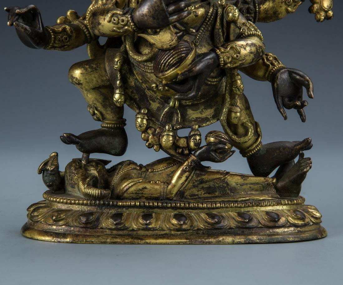 Gilt Bronze Figure of Mahakala - 3