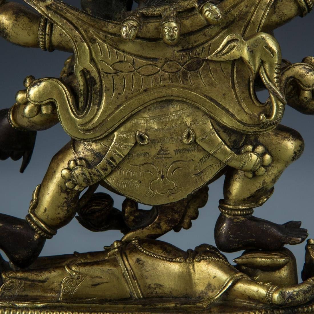 Gilt Bronze Figure of Mahakala - 5