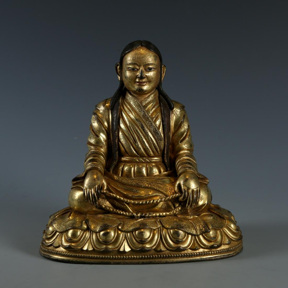Gilt Bronze Figure of Guru