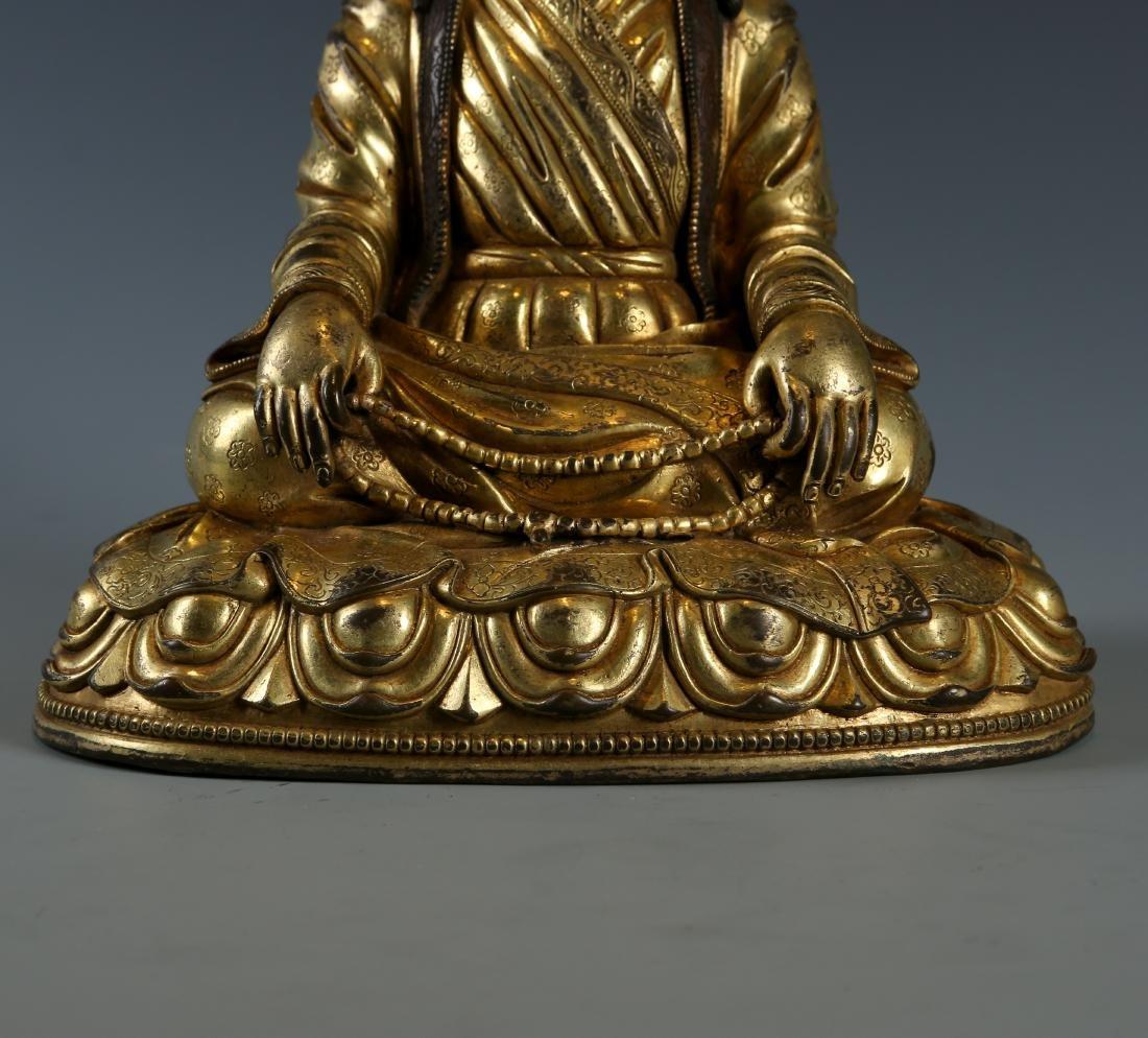 Gilt Bronze Figure of Guru - 3