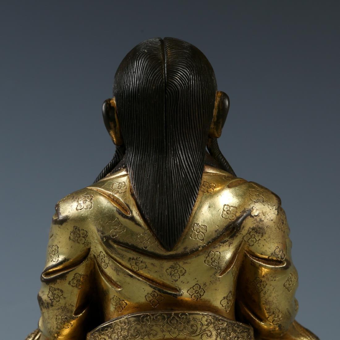 Gilt Bronze Figure of Guru - 4