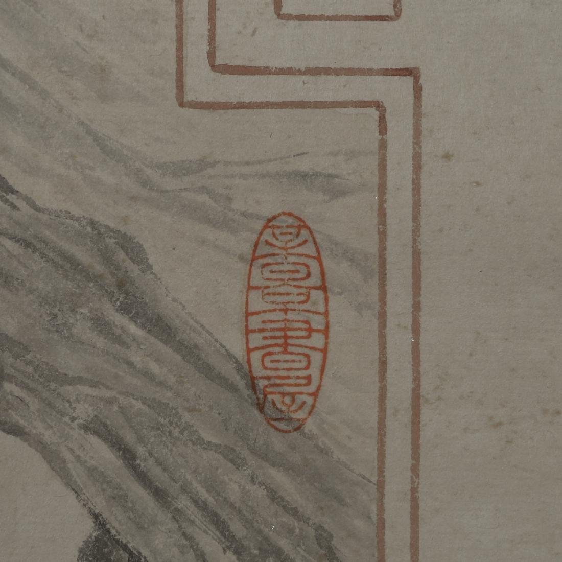 """WU HUFAN AND PAN JINGSHU: """"Guan Yin"""" Hanging Scroll - 8"""