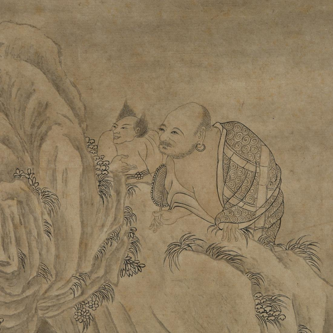 JING KUN: 'Buddhas' Ink on Paper Hand Scroll - 5