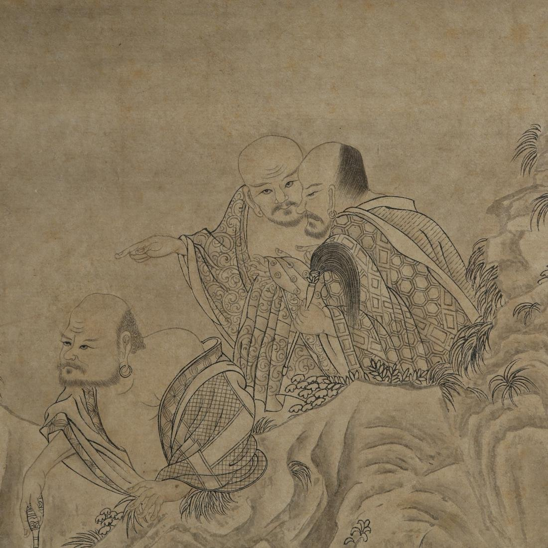 JING KUN: 'Buddhas' Ink on Paper Hand Scroll - 6