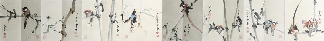 ZHAO SHAO'ANG: 'Flowers and Birds', Ink and Color - 2