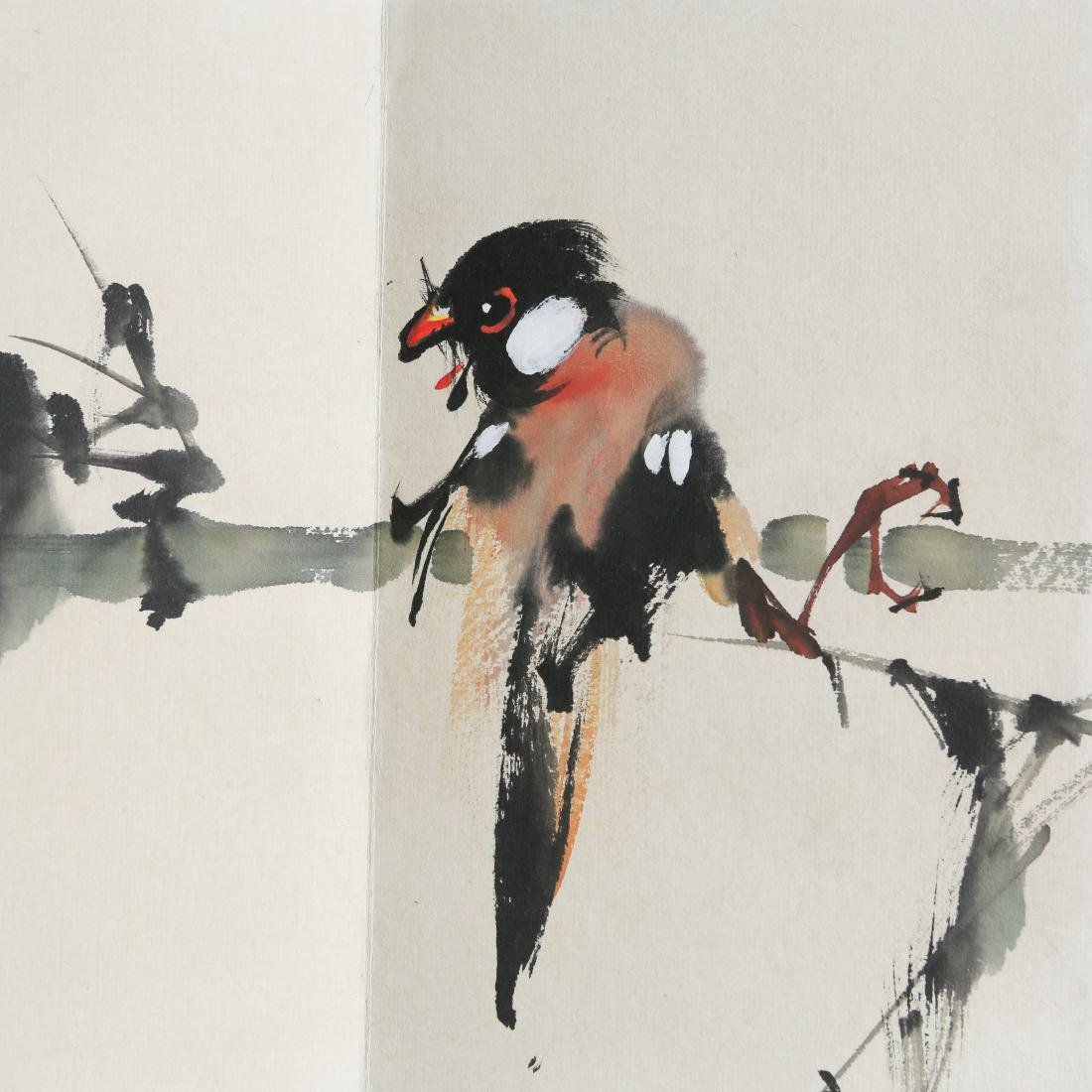 ZHAO SHAO'ANG: 'Flowers and Birds', Ink and Color - 3