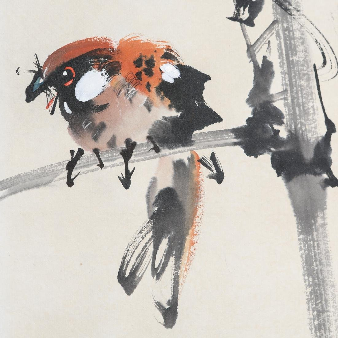 ZHAO SHAO'ANG: 'Flowers and Birds', Ink and Color - 6