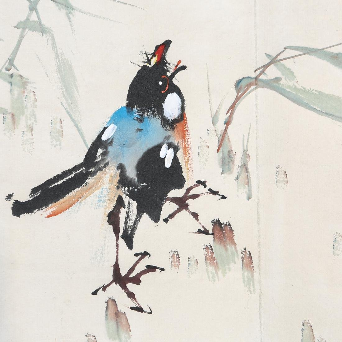 ZHAO SHAO'ANG: 'Flowers and Birds', Ink and Color - 7