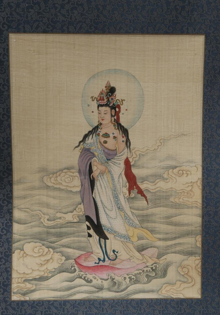 PU RU: 'Figures and Calligraphy' Ink on Silk - 4