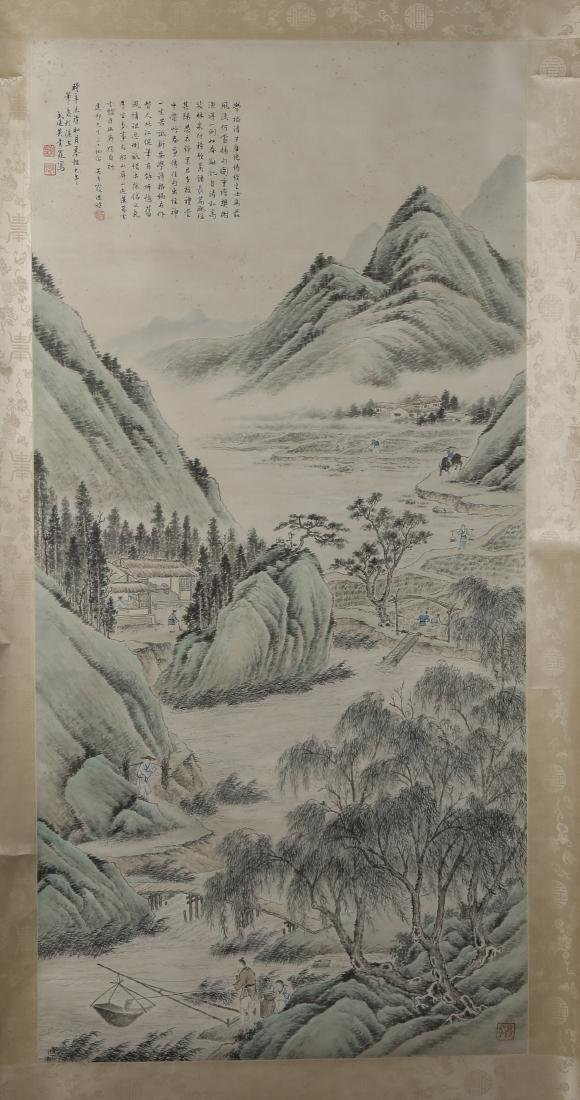 WU QINGXIA: 'Landscape' Hanging Scroll