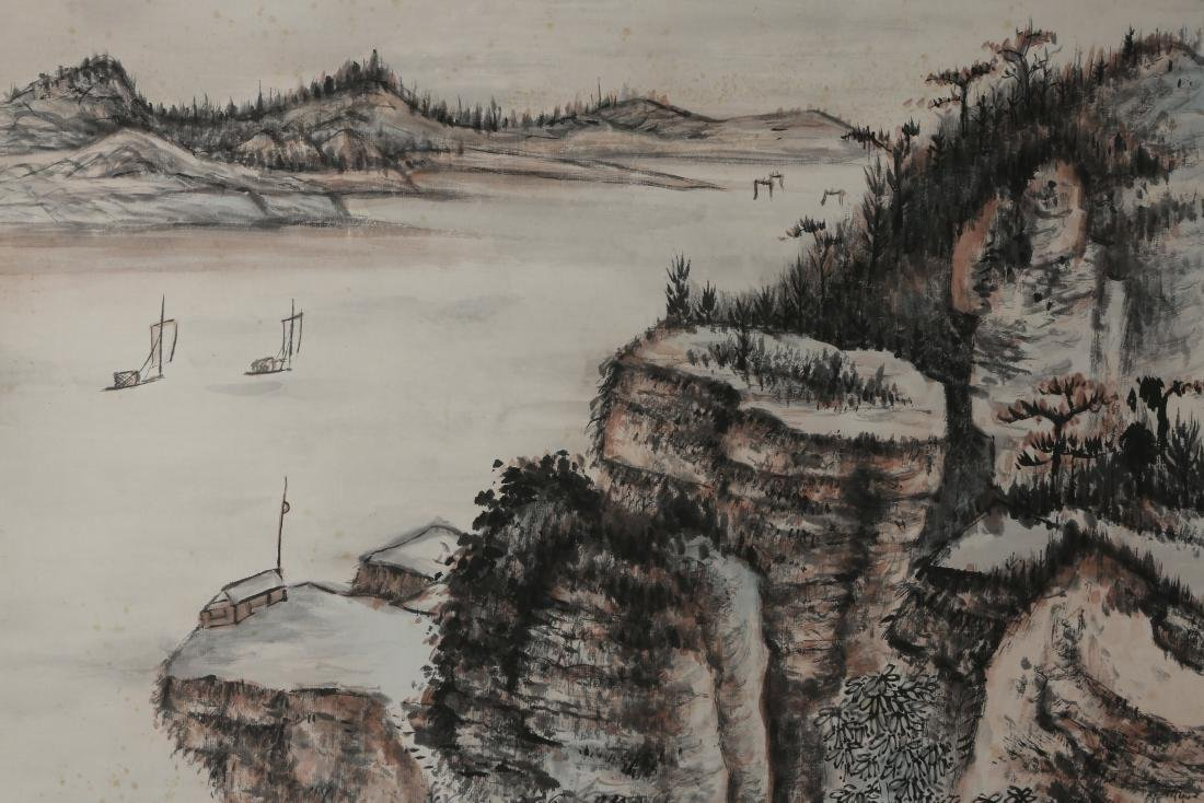 ZHANG DAQIAN: 'Landscape' Ink and Color on Paper - 3