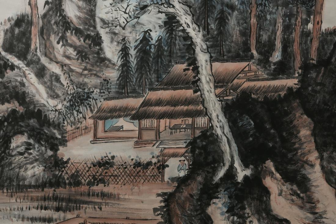 ZHANG DAQIAN: 'Landscape' Ink and Color on Paper - 4
