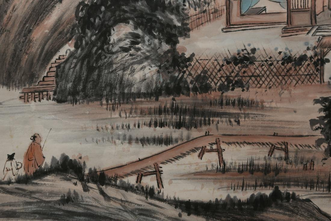 ZHANG DAQIAN: 'Landscape' Ink and Color on Paper - 5
