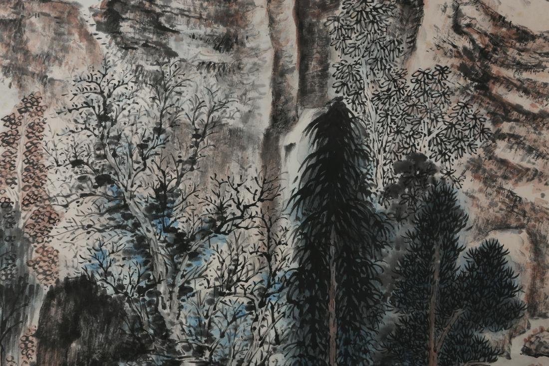 ZHANG DAQIAN: 'Landscape' Ink and Color on Paper - 7