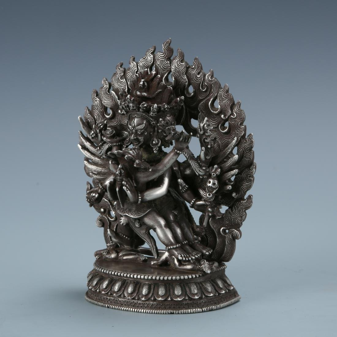 Silver Figure of Vajrabhairava and Shakti - 3