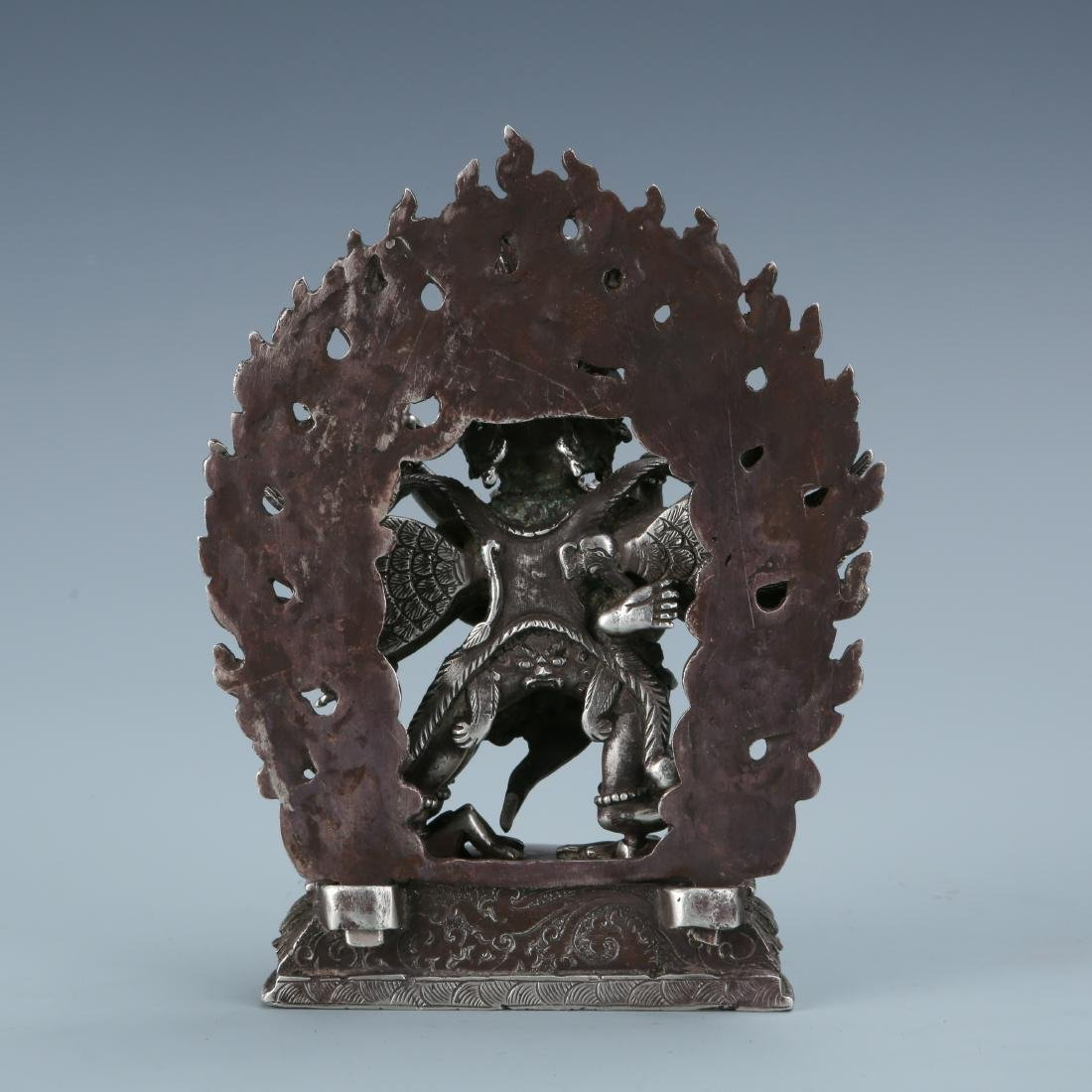 Silver Figure of Vajrabhairava and Shakti - 4