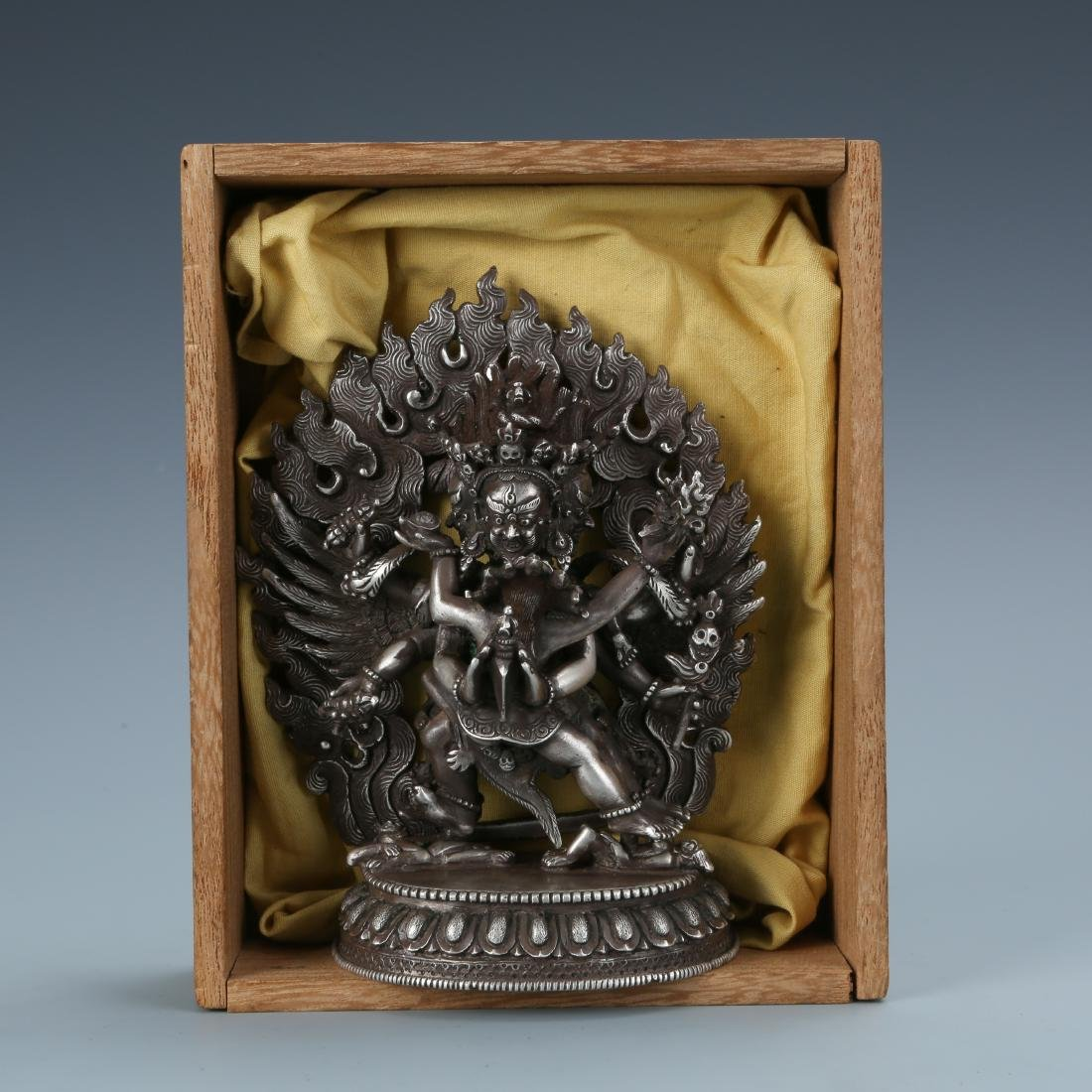 Silver Figure of Vajrabhairava and Shakti - 6