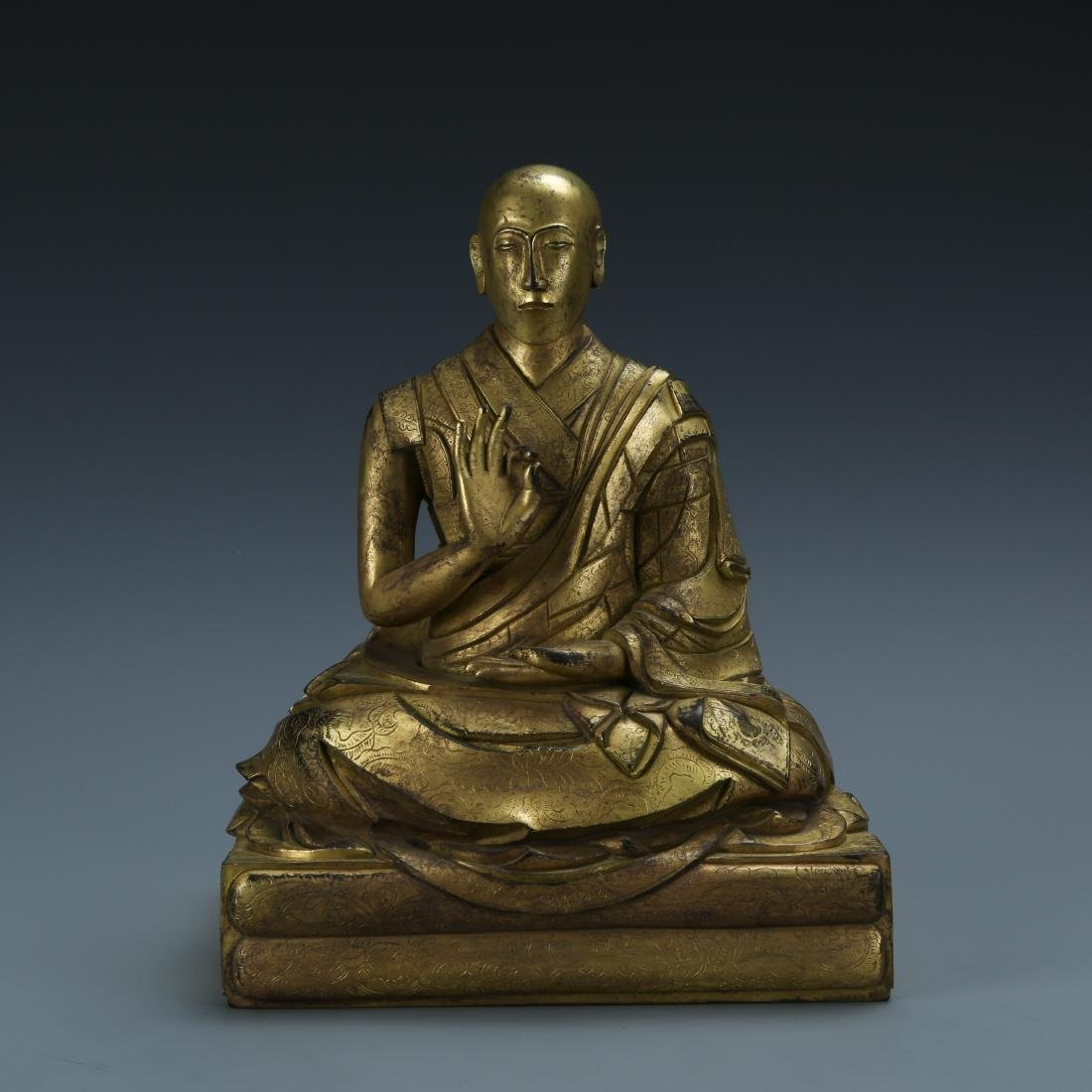 Gilt Bronze Figure of Fifth Dalai