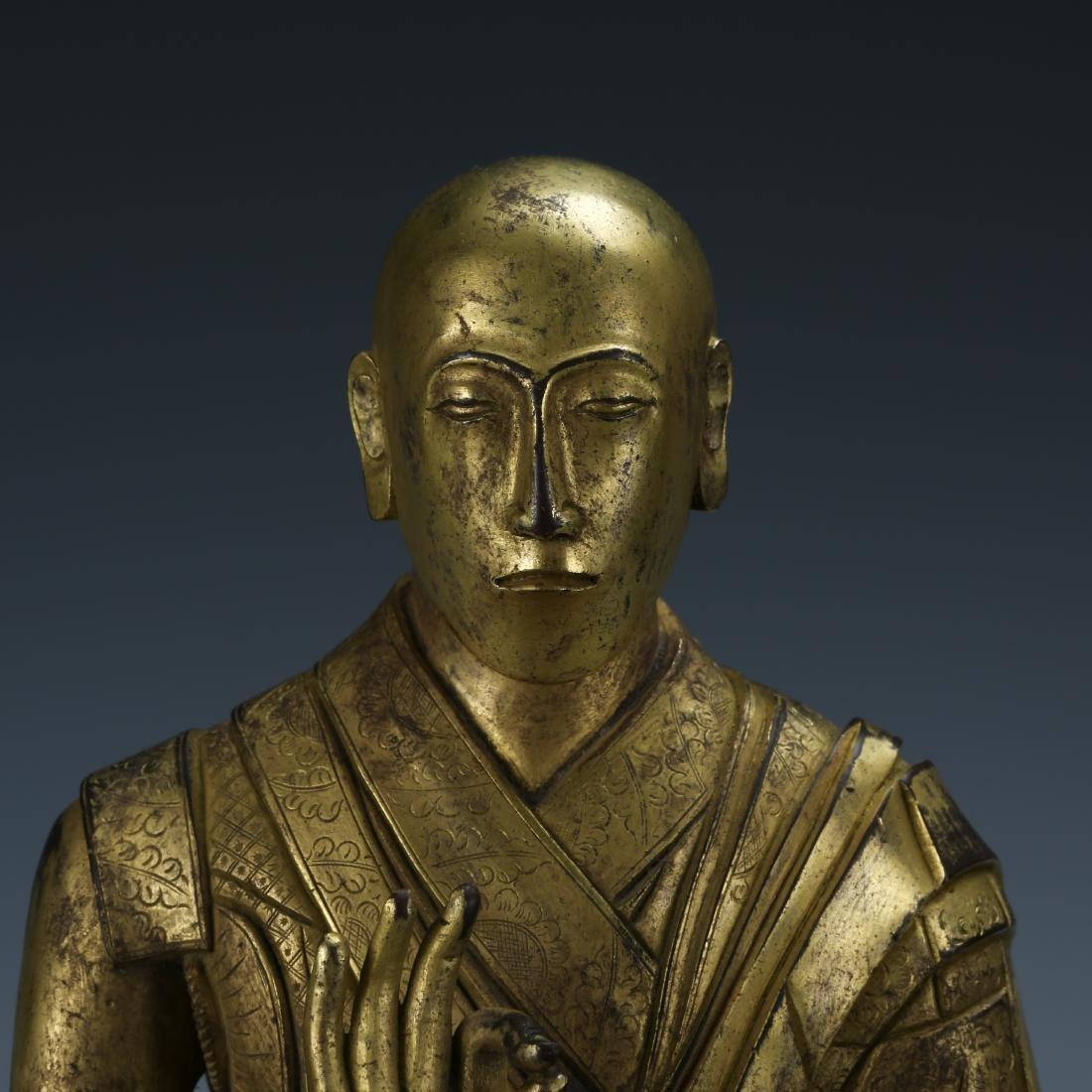 Gilt Bronze Figure of Fifth Dalai - 2