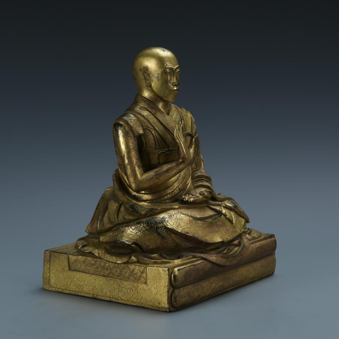 Gilt Bronze Figure of Fifth Dalai - 5