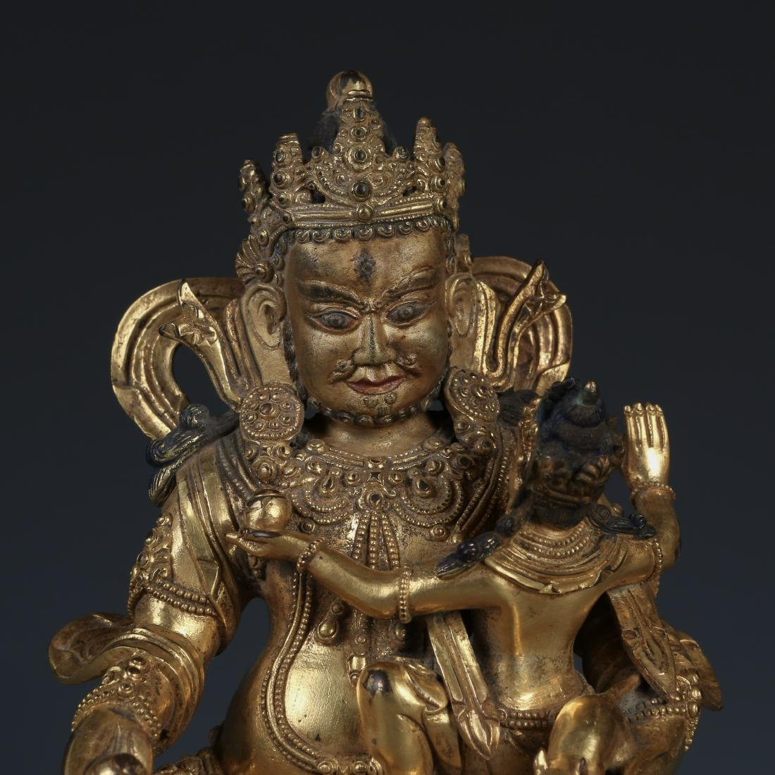 A Fine Gilt Bronze Figure of Jambhala, Tibetan, 17/18th - 2