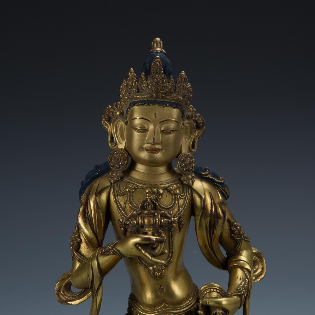 Gilt Bronze Figure of Tara - 2
