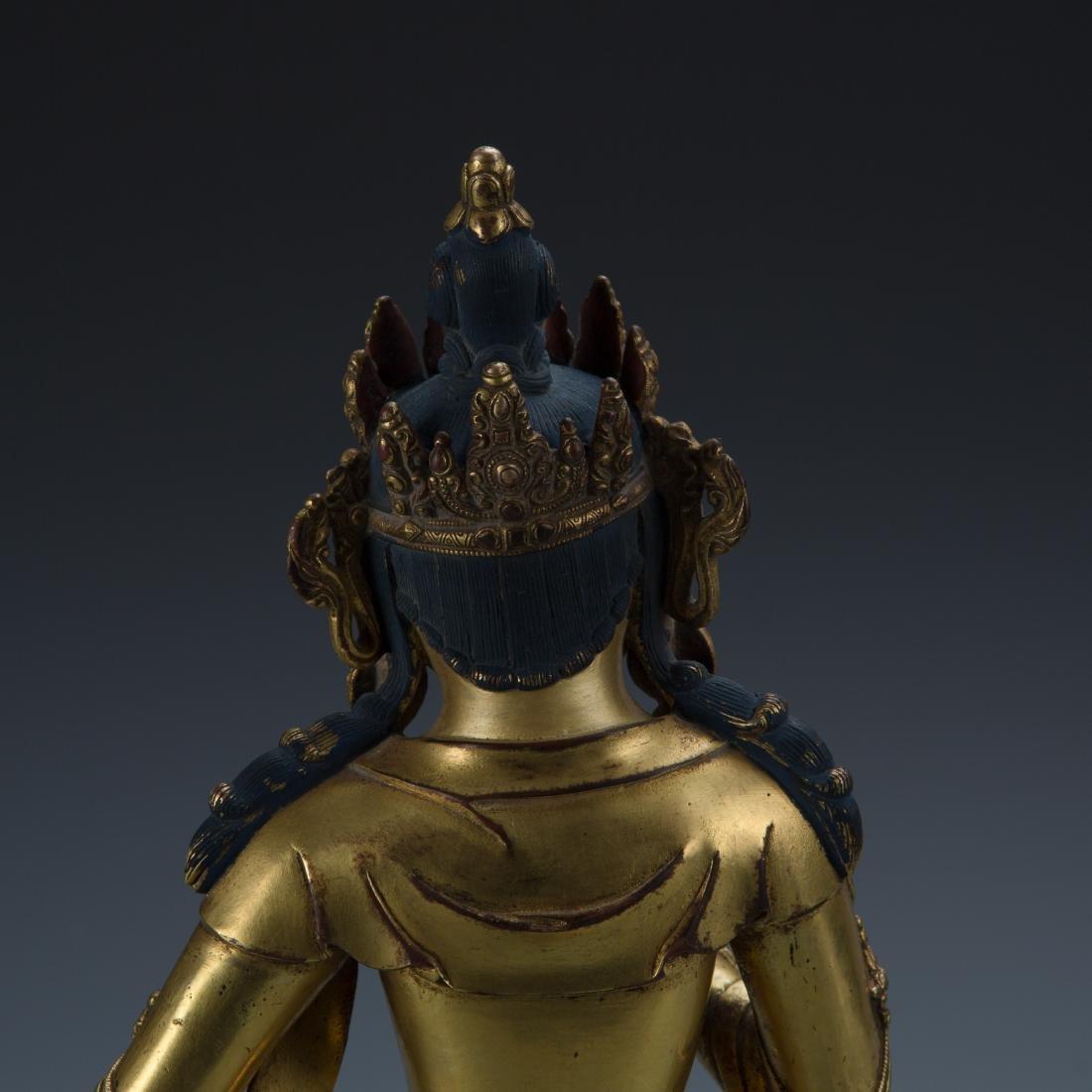 Gilt Bronze Figure of Tara - 6