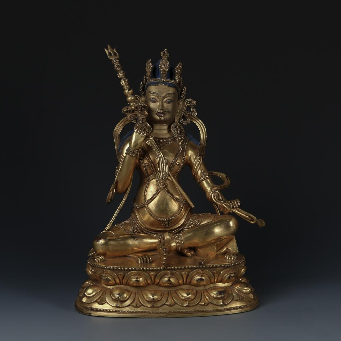 Gilt Bronze Figure of Padmasambhava
