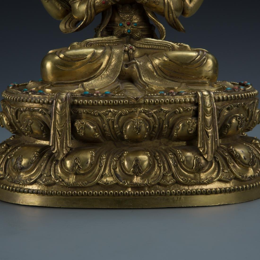 A Gilt-Bronze Figure of Sadaksari Avalokitesvara, Tibet - 3