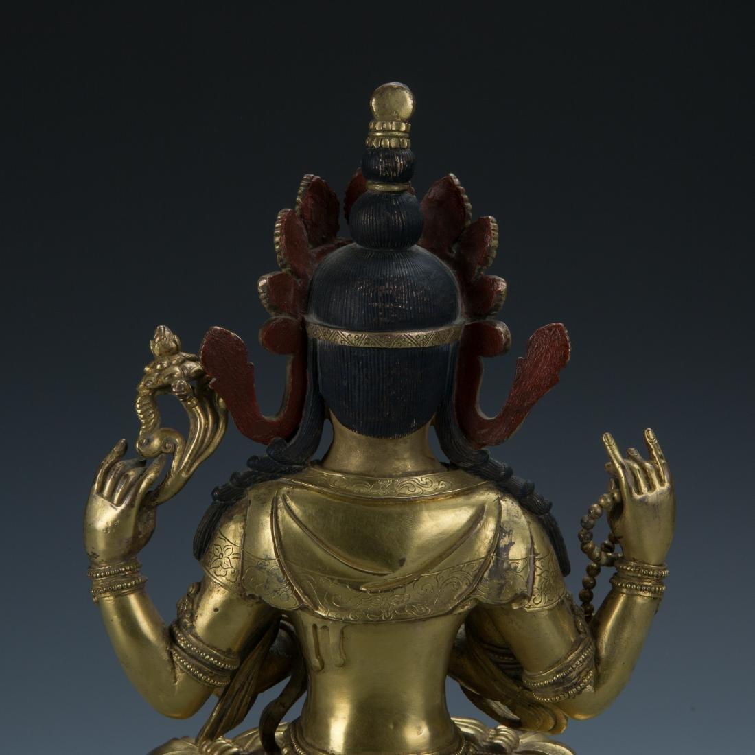 A Gilt-Bronze Figure of Sadaksari Avalokitesvara, Tibet - 7