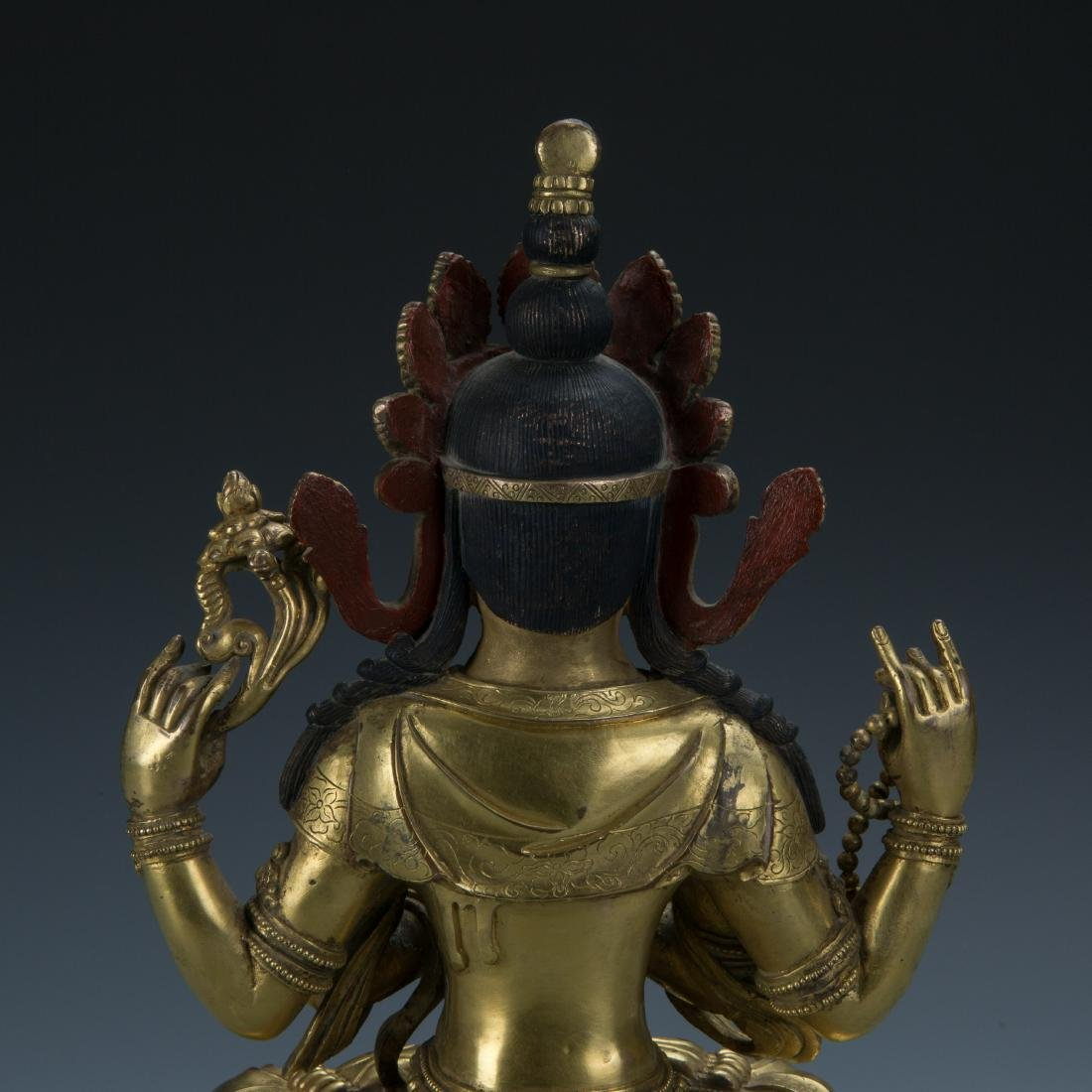 A Gilt-Bronze Figure of Sadaksari Avalokitesvara, Tibet - 7