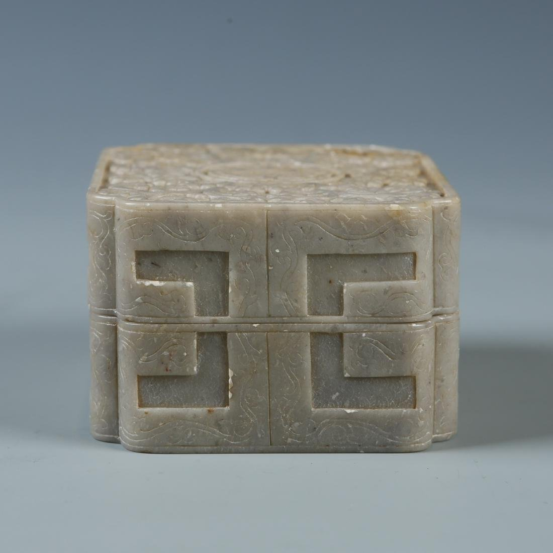 Carved Soapstone Box with Mark - 3