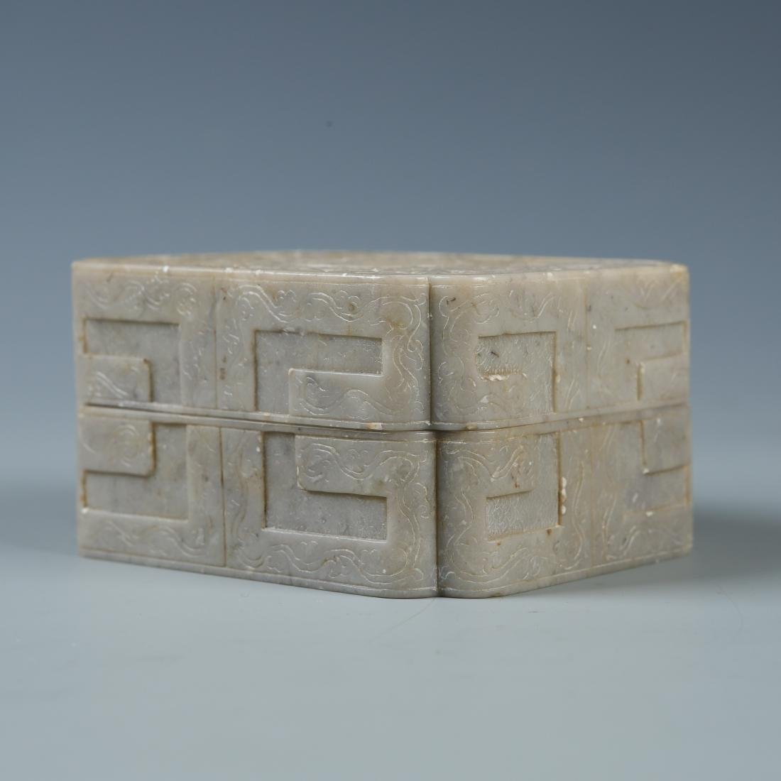 Carved Soapstone Box with Mark - 4