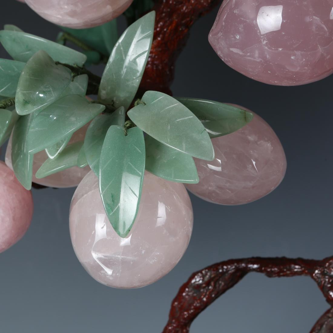 Carved Jade Grapes Vine in  Cloisonne Flowerpot - 6