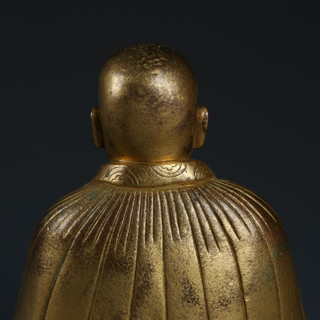 Gilt Bronze Figur of Guru of Phagdru Kagyu - 7