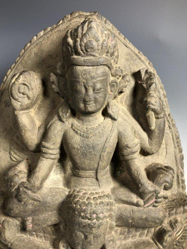 A Fine Buddhist Stone Stele, Nepal - 2