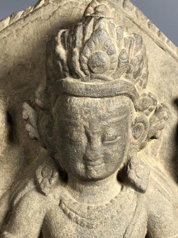 A Fine Buddhist Stone Stele, Nepal - 3