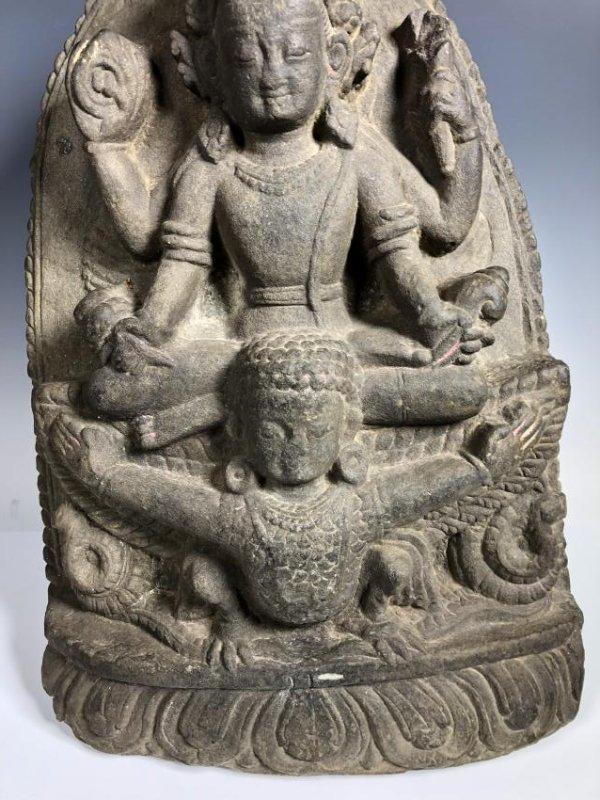 A Fine Buddhist Stone Stele, Nepal - 4