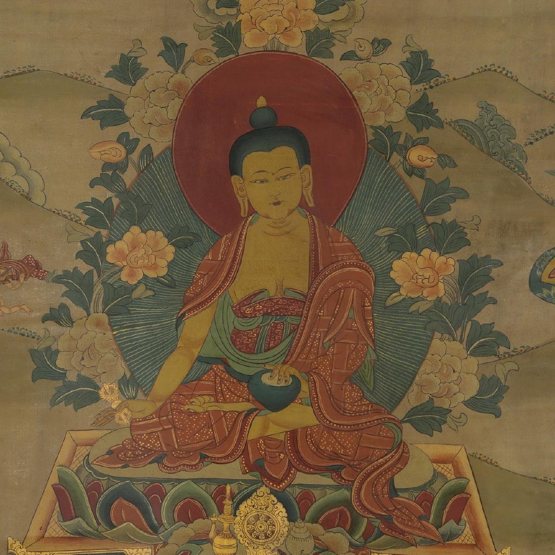 Set of Four Thangkas of Buddha Shakyamuni, Tibet - 10
