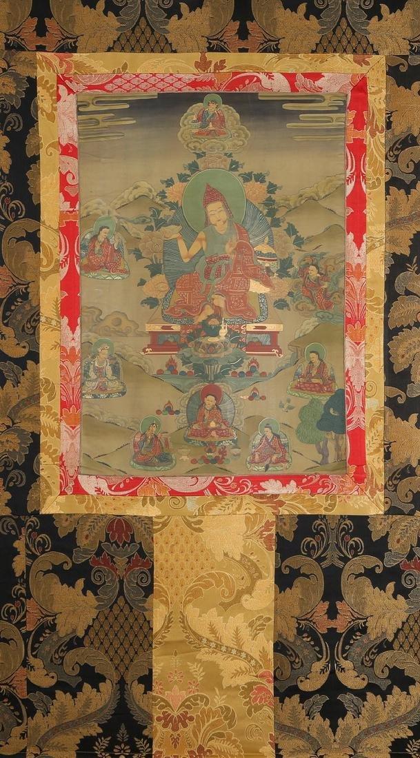 Set of Four Thangkas of Buddha Shakyamuni, Tibet - 11