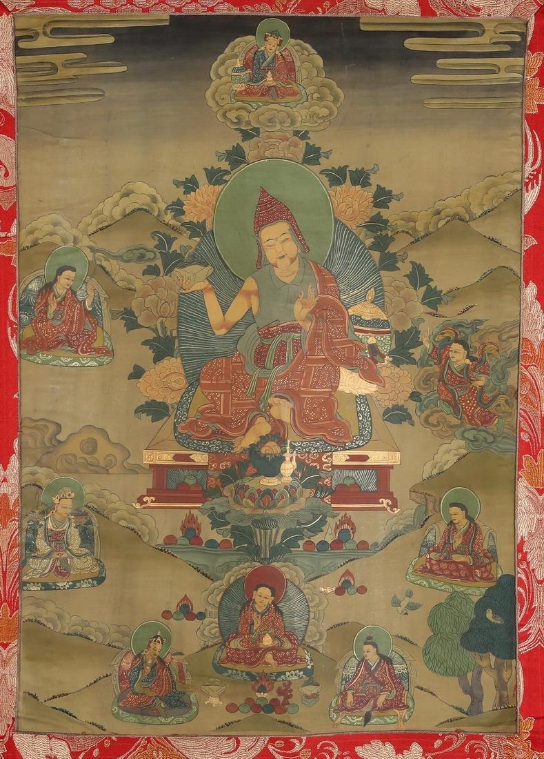 Set of Four Thangkas of Buddha Shakyamuni, Tibet - 12